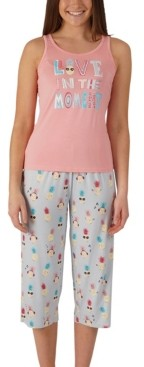 Munki Munki Nite Nite Pineapple Tank & Capri Pajama Set, Online Only