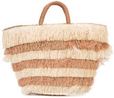Kayu layered fringed beach tote - women - Straw - One Size