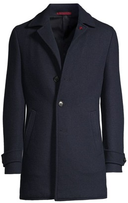 Isaia Solid Cashmere Overcoat