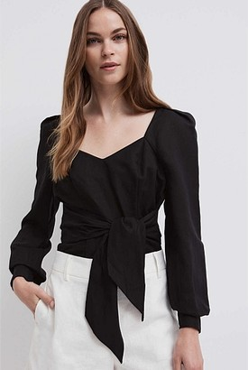 Witchery Tie Front Shirt