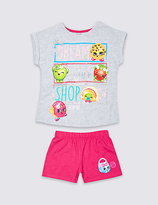 Marks and Spencer Cotton Rich Shopkins Short Pyjamas (3-10 Years)