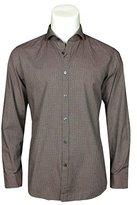 HUGO BOSS Men's Lennie Regular Fit Shirt (Dark Red