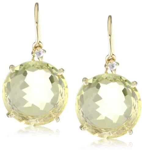 Suzanne Kalan Kalan by Round Lemon Quartz Earrings