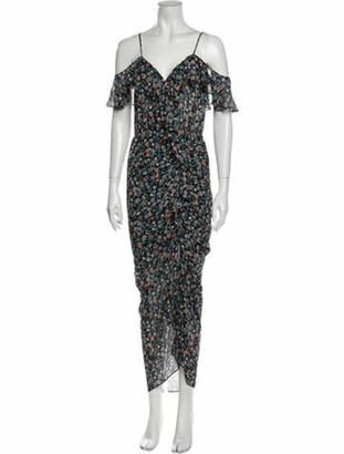 Veronica Beard Silk Long Dress Black