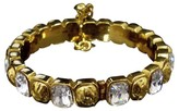 Chanel Gold-Tone Metal Rhinestnoes Bangle Bracelet
