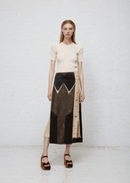 Josh Goot Military / Sand / Black Column Skirt