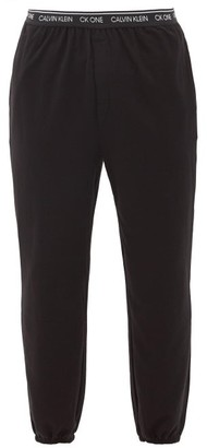 Calvin Klein Underwear Logo-waistband Cotton-blend Jersey Pyjama Trousers - Black