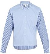 Comme Des GarÇons Shirt Contrast-panel Step-hem Cotton Shirt