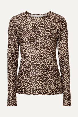 Cover Leopard-print Rash Guard - Leopard print