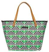 Petunia Pickle Bottom Infant Girl's 'Downtown' Glazed Canvas Tote - Green