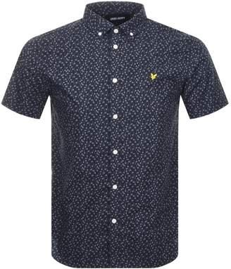 Lyle & Scott Short Sleeved Printed Shirt Navy