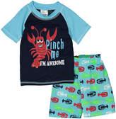 Sweet & Soft Turquoise 'Awesome' Short-Sleeve Rashguard Set - Infant & Toddler