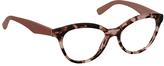 Prada Pink Havana Round Eyeglasses