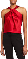 Theory Twist Silk Halter Top