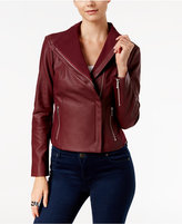 INC International Concepts INC International Faux-Leather Moto Jacket, Only at Macy's