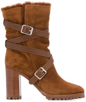Gianvito Rossi Buckled Ankle Boots