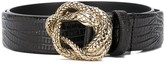 Just Cavalli embossed snake belt
