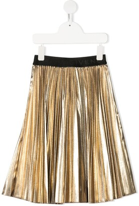 Givenchy Kids Pleated Metallic Effect Skirt