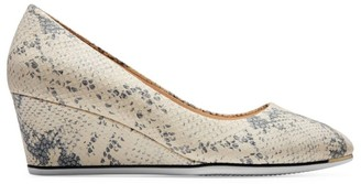 Cole Haan Grand Ambition Snakeskin-Embossed Leather Wedge Pumps