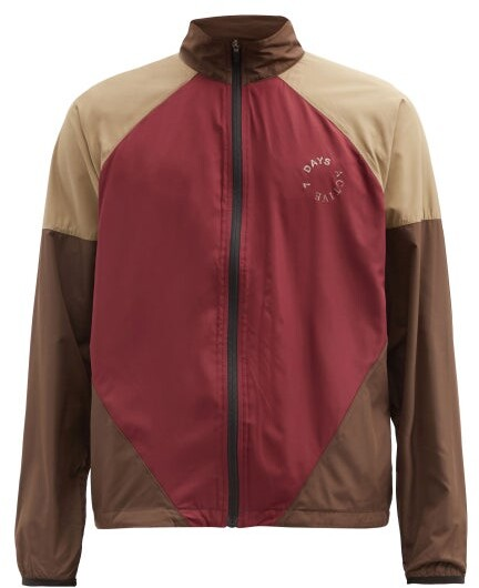 7 DAYS ACTIVE Colour-block Zipped Running Jacket - Red