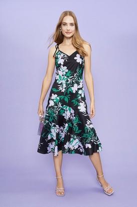 Coast Printed Cami Strap Midi Dress