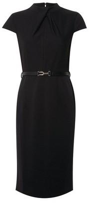 Dorothy Perkins Womens Black Twist Neck Bodycon Dress, Black