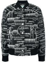 Kenzo printed bomber jacket - women - Cotton/Acrylic/Polyamide/other fibers - XXS