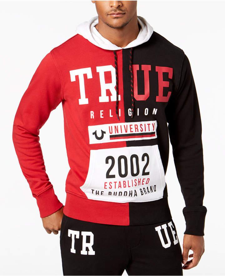 True Religion Men's Colorblocked Logo Graphic Hoodie
