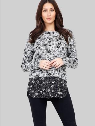 M&Co Izabel floral print contrast jumper