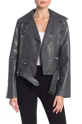 Noize Eva Faux Leather Moto Jacket