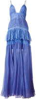 Maria Lucia Hohan Claraamparo tiered gown - women - Silk/Nylon/Polyamide/Viscose - 34