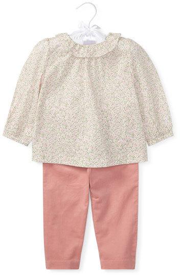 Ralph Lauren Floral Blouse w/ Pants, Size 9-24 Months