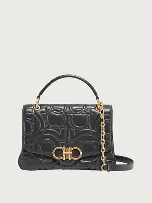 Salvatore Ferragamo Women Quilted Gancini top handle bag Black