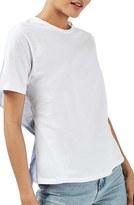 Topshop Women's Tie Back Hybrid Tee