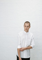 Comme des Garcons white short sleeve french cuff shirt