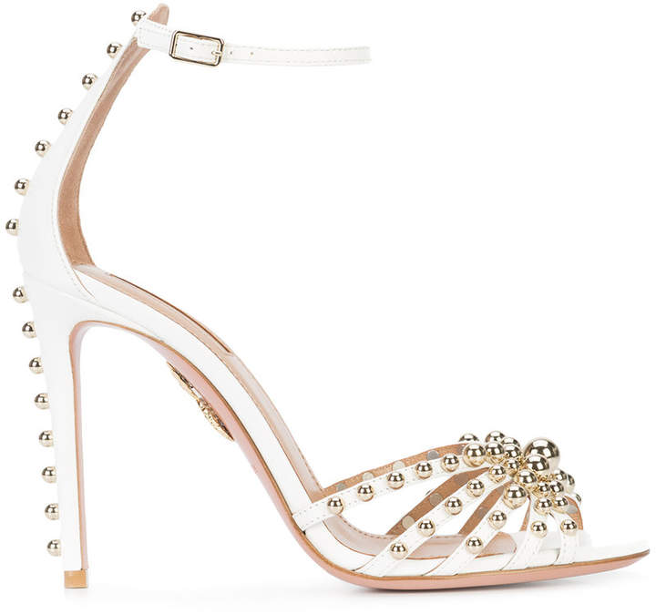 Aquazzura beaded ankle strap sandals
