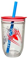 Spiderman 15oz Tumbler with Lid and Straw Red