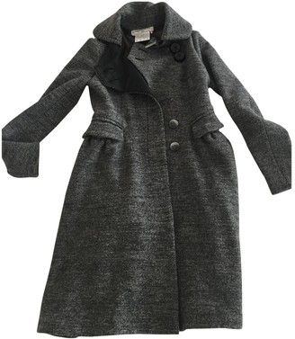 Charles Anastase Grey Wool Coat for Women