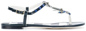 Dolce & Gabbana Nautical Flat Sandals