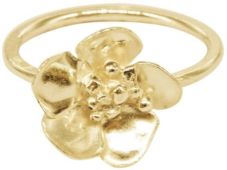 Lily Flo Jewellery Cherry Blossom Ring In Solid Gold