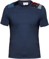 Maison Margiela Patchwork-shoulder crew-neck T-shirt