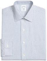 Brooks Brothers Men's Regent Classic-Fit Non-Iron Blue Striped Dress Shirt