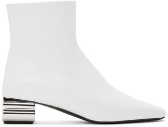 Balenciaga White Typo 40mm Boots