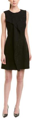 Oscar de la Renta Silk-Lined Wool-Blend Shift Dress