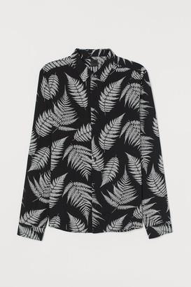 H&M Slim Fit Viscose Shirt - Black
