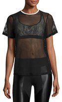 Koral Activewear Size Up Open-Mesh Tee, Black