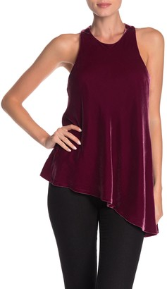 Cinq à Sept Velvet Dylan Asymmetrical Top