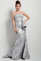 Jovani 54506 Strapless Silver Abstract Evening Dress