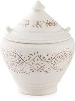 John Robshaw Lakki Covered Porcelain Vanity Jar, Taupe