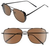 Quay Men's Weekend Warrior 60Mm Navigator Sunglasses - Black/ Brown